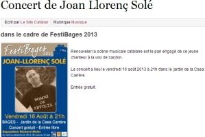 Le Site Catalan, 04/08/13