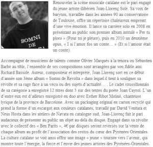 La Semaine du Roussillon, 30/01/12